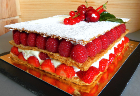 Millefeuilles fruits rouges